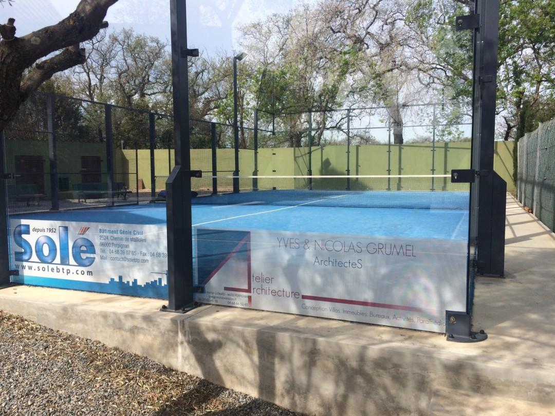 Exemple Pub Entreprise Padel Squash Tennis