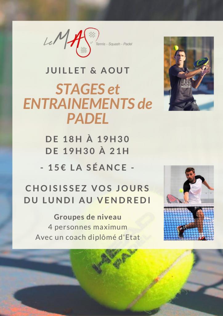 Stages de Padel à Perpignan ETE 2017