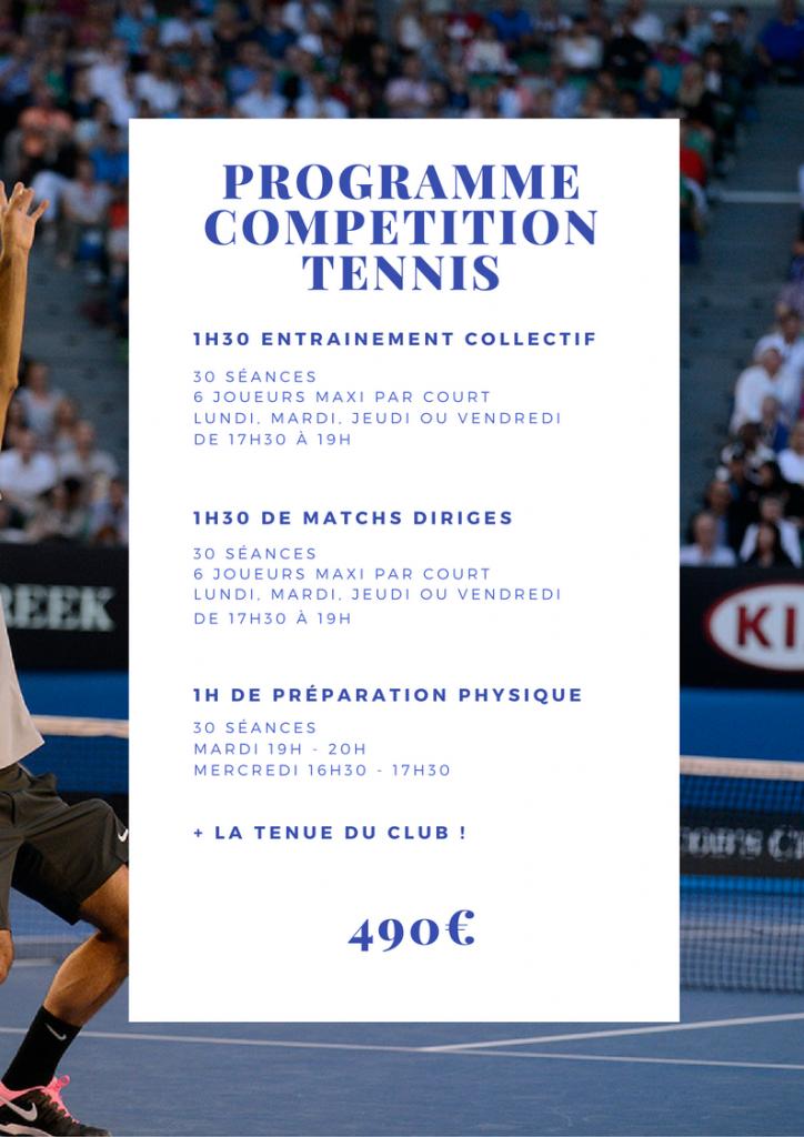 Centre de compétition Tennis Perpignan 2017